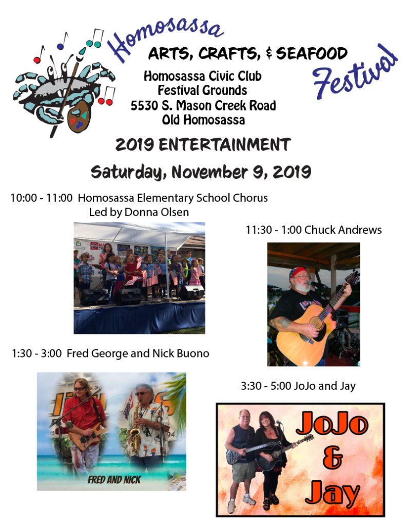 entertainment Homosassa Arts, Crafts, and Seafood